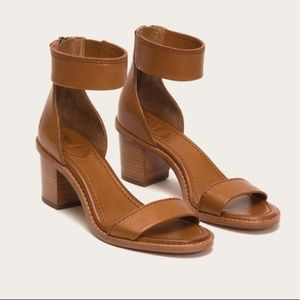Frye Brielle Zip Sandal in Copper